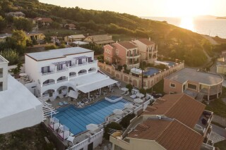 facilities fedra mare hotel aerial pool view